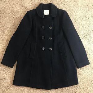 Black wool peacoat